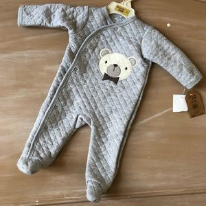 Quilted Footed Onesie